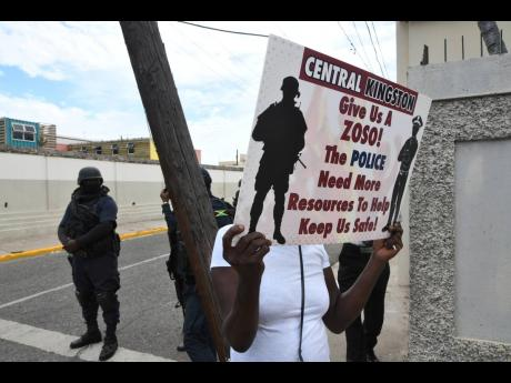 A group of  women from various communities in Central Kingston last week raised their voices against the increase in criminality in the area.